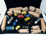Thomas And Other Wood Train Track Cars Toy As You See Them Accessories Group Lot
