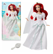 Official Disney The Little Mermaid - Ariel Wedding Doll With Brush
