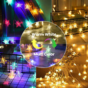 9m/15m 60/100led Twinkle Stars Fairy String Lights Waterproof Lamp For Christmas