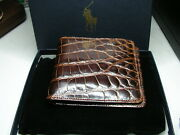 Polo Alligator Wallet W/ Box And Cloth