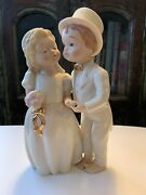 Lenox Bride And Groom Figurines Young, Adorable And Barefoot