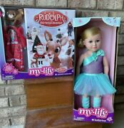 """My Life As Rudolph The Red🔴nosed Reindeer Advent Calendar➕18"""" Ballerina 🩰 Doll"""