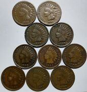 10-indian Head Cents-1880-1881-1898-1899-1902-1903- 1905- 1906-1907+1908 147