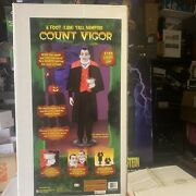 Gemmy Count Vigor Life Size Animated Halloween Figure 6' Brand New Collectors