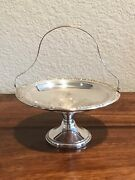 Frank M. Whiting 196 Sterling Silver Pedestal Compote Candy Dish With Handle