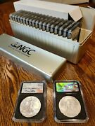 20x 2017 American Silver Eagle Early Release Ngc Mike Castle Black Holder Ms70