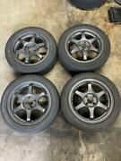 Jdm 4 Wheels With Tires 4 Holes Pcd100 16 Inch 7j Plus 38 16 Inches