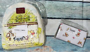 Nib Loungefly Disney Mini Backpack Winnie The Pooh Sketch And Wallet