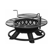 Shinerich Industrial Srfp96 Outdoor Metal Ranch Fire Pit With Grill Black 47