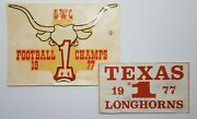 1977 Earl Campbell Heisman Signed 1 Swc Texas Longhorn Football Sticker And Decal