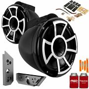 Wet Sounds Rev10b-x 10 Black Tower Speakers With Malibu G5 Tower Adapters
