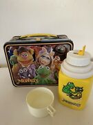 Muppets Metal Lunchbox With Thermos Sippy Cup 1979 Fozzie Miss Piggy Kermit