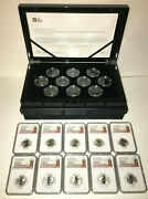 2021 Uk Queen's Beasts 10-coin Set 1/4oz Silver Rp Coins Ngc Rp69/70uc Fr Presal