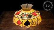 Vintage Stained Glass Style Plastic Poker Pendant Lamp