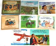 Lot 8 Picture Book Of Biographies David Adler Rosa Parks Earhart Robinson Ediso