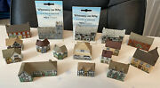 1980's Wade Whimsey-on-why Porcelain Houses Lot Of 16--see Description--