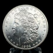 1904 O Morgan Dollar Full Of Luster Unc. 90 Silver 1 Us Coin Collectible 480