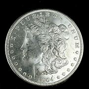 1904 O Morgan Dollar Full Of Luster Unc. 90 Silver 1 Us Coin Collectible 481