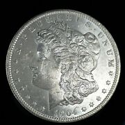 1904 O Morgan Dollar Full Of Luster Unc. 90 Silver 1 Us Coin Collectible 482