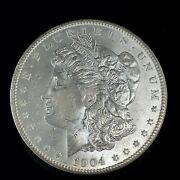 1904 O Morgan Dollar Full Of Luster Unc. 90 Silver 1 Us Coin Collectible 485