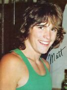 Matt Dillon Pinup Clipping From A Magazine 80's Sexy Smile In Tank Top