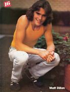 Matt Dillon Pinup Clipping From A Magazine 80's In Tank Top Jeans