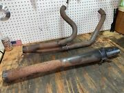 85-up Harley Street Glide Thunderheader 2 Into 1 Exhaust Pipe Touring Used