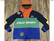 Polo Sport Anorak Outdoors Sportsman Large Pacth Jacket