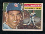 1956 Topps Ted Williams 5 Wb - Red Sox - Vg+ - C8091
