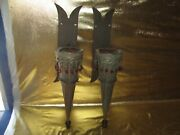Unique Gothic / Medieval Metal 18 Candle Holders Hanging Jeweled Look