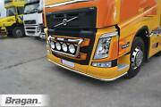 Low Bar + Mud Flaps White To Fit Volvo Fh4 2013+ Trucks Polished Stainless Steel