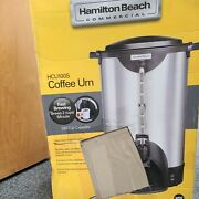 Hamilton Beach Commercial 100 Cup Stainless Steel Coffee Urn Hcu100s Double Free