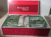 New American Girl Doll Kit Kittredge Metal Green Trundle Day Bed Set In Box