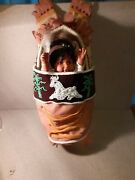 19 Inch Tall Native American Papoose Doll With Cradelboard