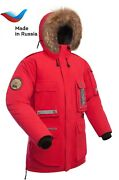 New Mens Down Arctic Parka Yamal Made In Russia. -40с Extreme Cold . Waterproof.