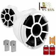 Wet Sounds Rev10w-x 10 White Fixed Towers With 2019+ Nautique Fcta Adapters