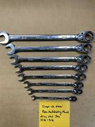 Snap On Ratchet Wrench Set Sae Flank Drive Plus