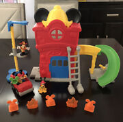 Disney Mickey Mouse Clubhouse Mickey's Funny Fire House Playset 2012 Fisherprice