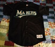 Majestic Florida Marlins Black Dontrelle Willis Jersey New No Tags Size Xl