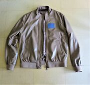 Versace Lamb Leather Size M / 48 Italian Sand Color Like New