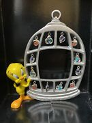 """Warner Brothers 1999 Tweety Bird Decorative Charms Picture Frame 7"""" Tall -read"""