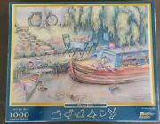 1000 Pc Canal Boat Pastime Jigsaw Puzzle English Narrowboat Scene Unique Pieces