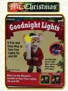 Mr Christmas New Goodnight Mouse Lights Blow Out Candle Tree Light 028021