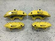 09-15 Cadillac Cts-v Full Front And Rear Cailper Set Yellow
