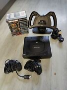 Sega Saturn Console With 12 Games Steering Wheel And 2 Controllers
