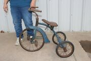 Antique Vintage Metal Childand039s Tricycle Toy 3 Wheel Bicycle