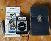 Vintage Sencore Pocket Cricket Tf40 Transistor Fet Tester And Touch Probe Manual +