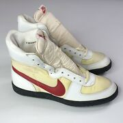 Vtg Nike 1980s Dunk Hi Turf Football Shoes Size Mens 9 Us White And Red Rare