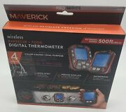 Maverick Wireless Digital Bbq Food Meat Thermometer Xr-50 Extended Range-500 Ft
