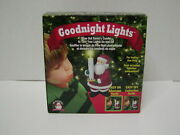 New Mr Christmas Goodnight Lights Blow Out Santa Claus Candle Tree Light Control
